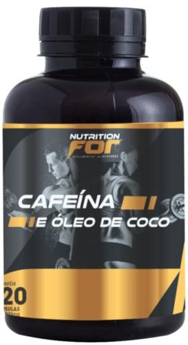 cafeína + óleo de coco 1000mg 120 cáps 6 potes