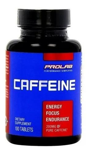cafeina prolab 200mg / 100 pastillas . americano