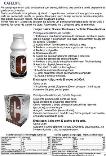 cafélife, o café que emagrece (omnilife) - caixa 30 sachês