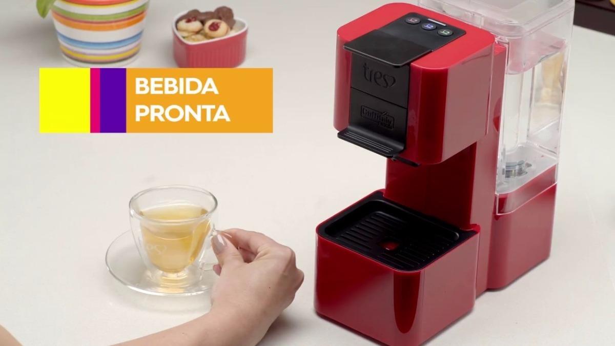 d39276569 Cafeteira Espresso 3 Corações S26 Pop Cápsulas Vermelha 127v - R ...