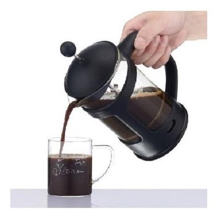 cafeteira francesa grande cremeira french press 800ml