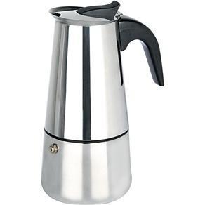 cafeteira italiana em aço inox 4 xícaras - frete grátis