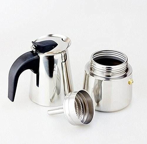 cafeteira italiana em aço inox 9 cafés melhor preço promoçâo