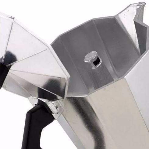 cafeteira italiana em alumínio para 12 xicaras - promoção