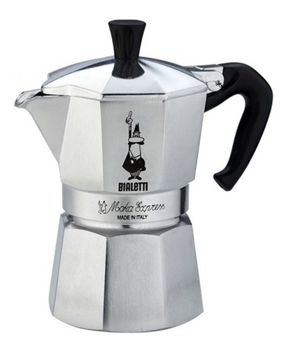 cafeteira italiana nuova moka express bialetti p/ 3 xícaras