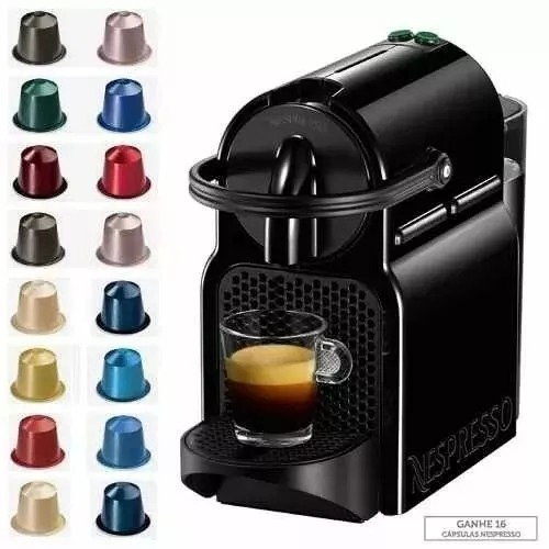 cafeteira nespresso inissia 16 capsulas 19 bar 220v r 306 80 em mercado livre. Black Bedroom Furniture Sets. Home Design Ideas