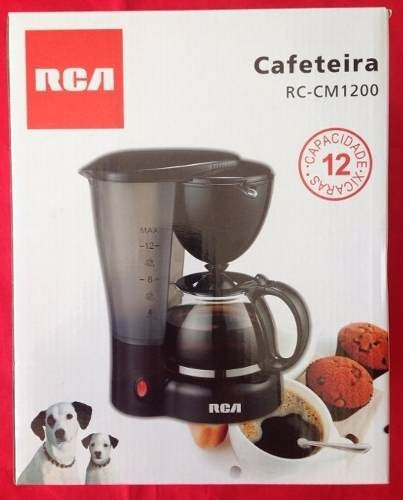 cafeteira rca modelo p/ até 12 xícaras café 110vt