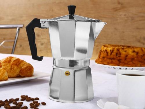 cafeteira tipo italiana em alumínio 150ml para 3 cafés