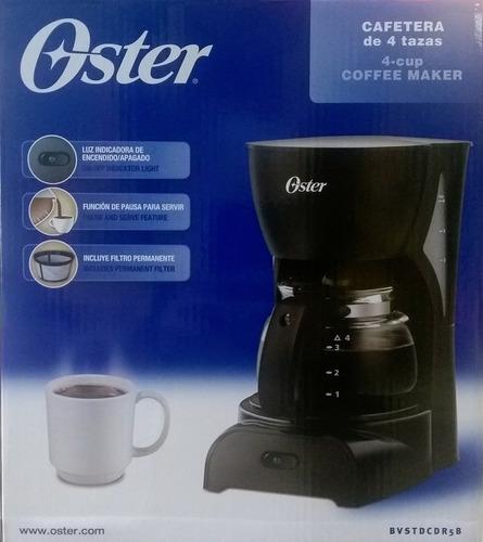 cafetera 4 tazas oster filtro permanente y antigoteo roja