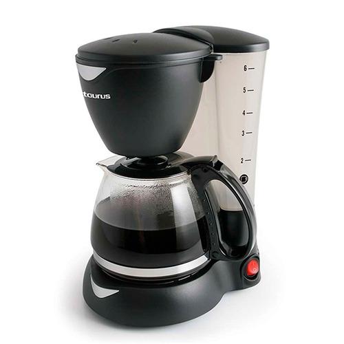 cafetera 6 tazas taurus c6t negra