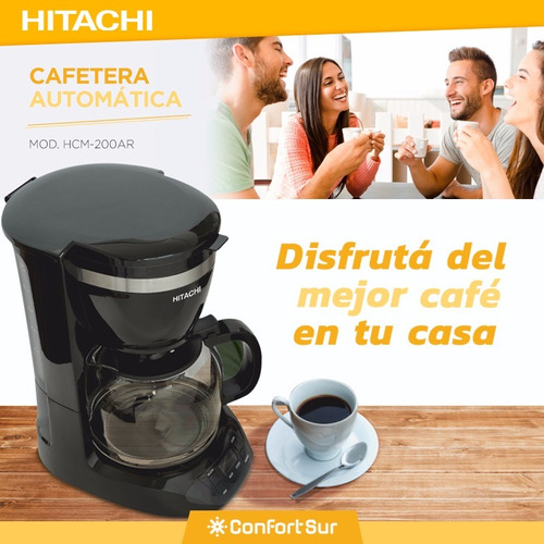 cafetera automática hitachi timer 1,5l 900w hcm200ar env **7