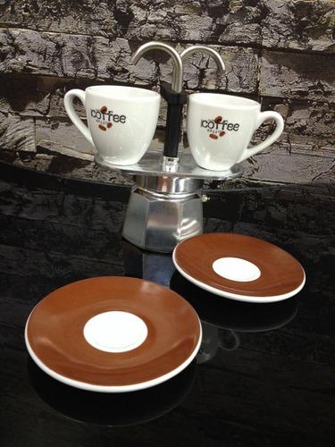 cafetera bialetti mini express 2 tazas, incluye 2 tazas*