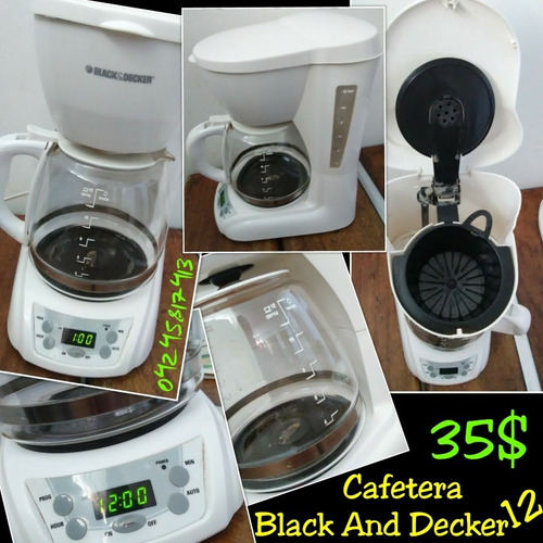 cafetera black and decker de 12 tazas
