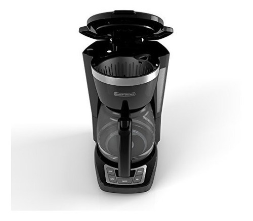 cafetera black+decker programable de 12 tazas negro cm1160b