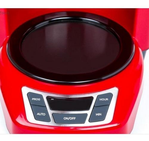 cafetera black&decker programable 12 tazas roja digital