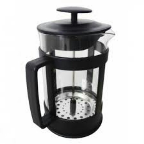 cafetera c/ embolo vidrio templado y acero inoxidable 600 ml
