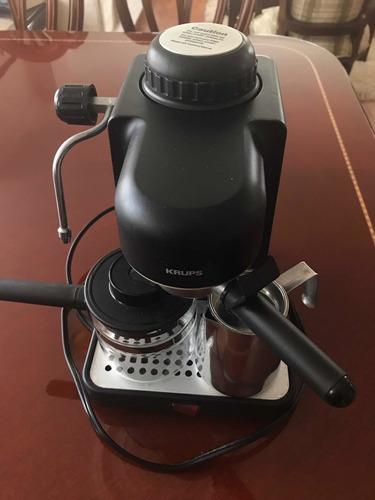 cafetera café express y capuchino a vapor