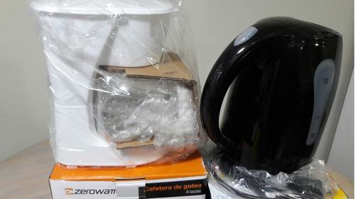 cafetera cero watts y jarra electrica