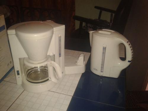 cafetera combinada con hervidor inalámbrico de 1 litro