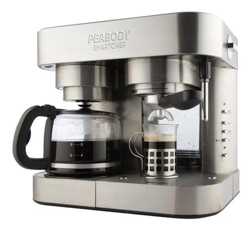 cafetera combinada peabody pe-cc20 inox - aj hogar