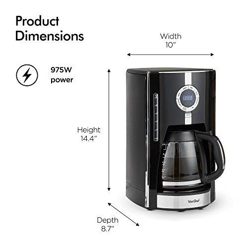 cafetera con filtro digital vonshef brewer 12 cup machine co