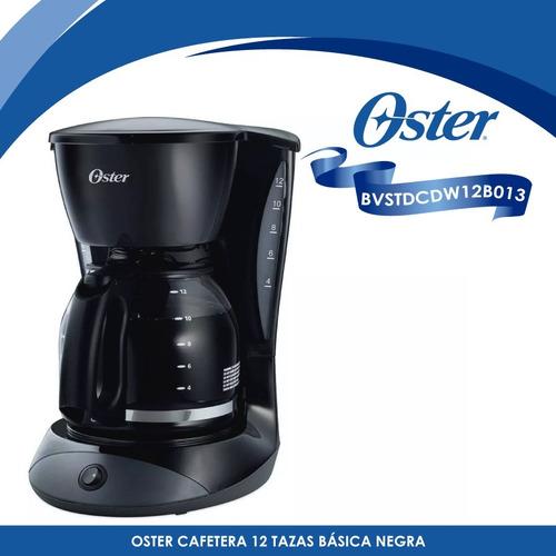 cafetera de 12 tazas básica negra oster bvstdcdw12b-013