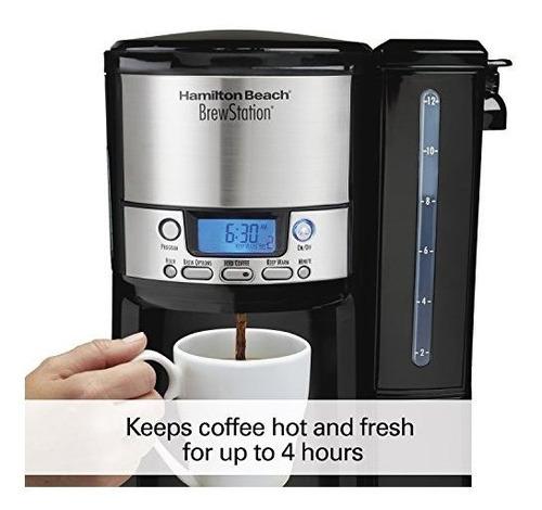 cafetera de 12 tazas de hamilton beach, maquina de cafe de d