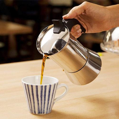 cafetera de café espresso bialetti venus, acero inoxidable,