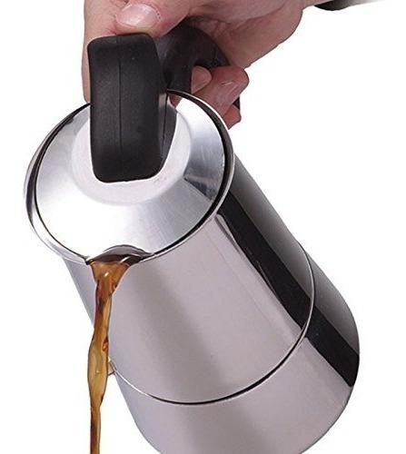 cafetera de espresso primula 6 tazas acero inoxidable