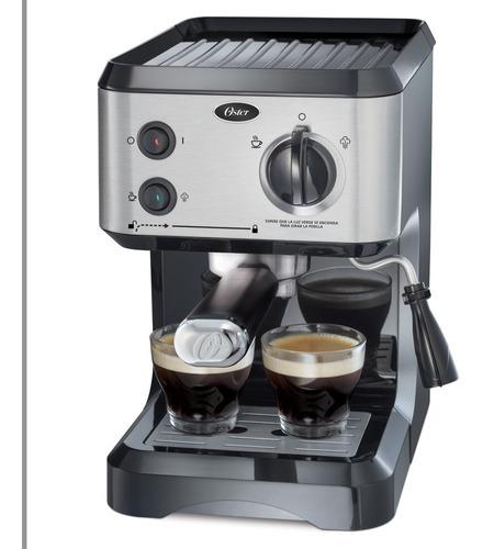 cafetera de vapor para espresso y cappuccino  plateada