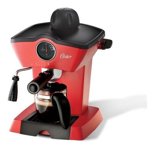 cafetera de vapor para espresso y cappuccino roja