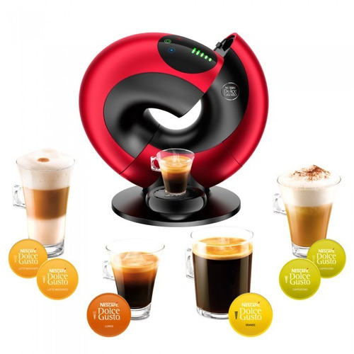 cafetera dolce gusto eclipse roja + 10 cajas capsulas d g