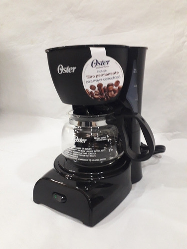 cafetera electrica 4 tazas oster negra