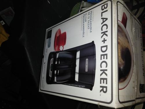 cafetera electrica black&decker cm1061b progr.12tzas sin uso