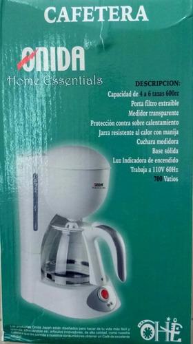 cafetera electrica de 6 taza con filtro lavable