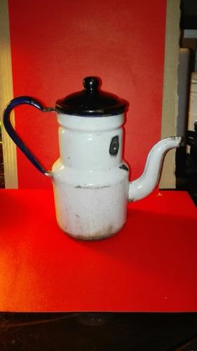 cafetera enlosada antigua