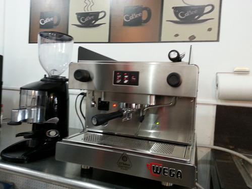 cafetera espresso wega mas molino wega
