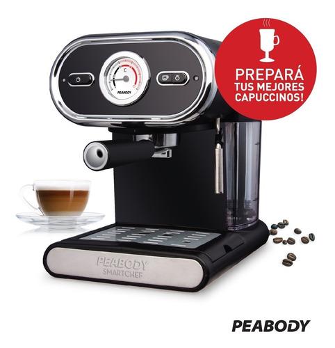 cafetera express 15 bares 1l peabody ce5002 con espumador