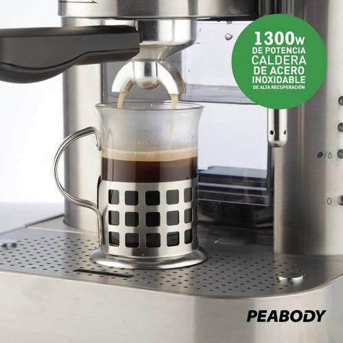 cafetera express 19 bar 1.5 lt. espumador peabody pe-ce19