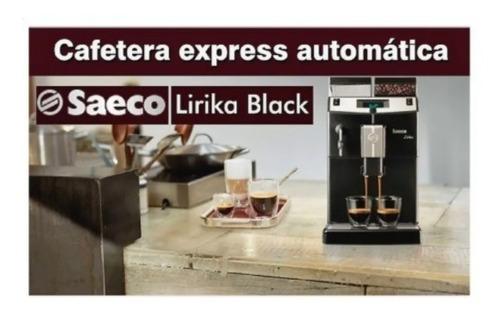 cafetera express automatica saeco lirika black  digiya