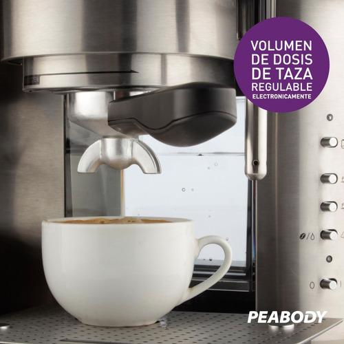 cafetera express combinada 19 bar 1.5 lt. peabody pe-cc20 *
