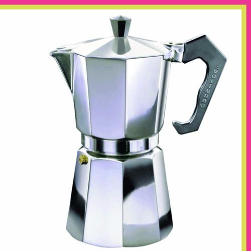 cafetera express volturno classica aluminio 6 pocillos 390cc