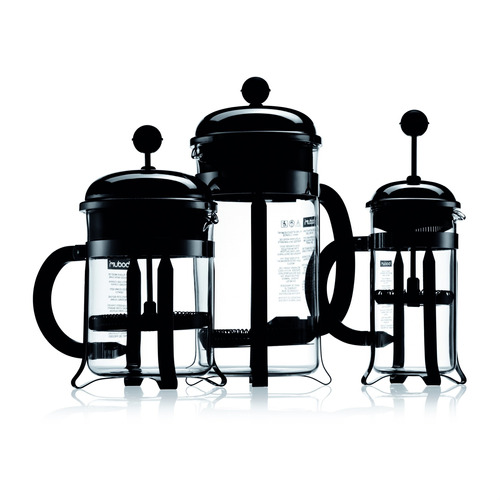 cafetera french press de bodum chambord, para 3tazas,