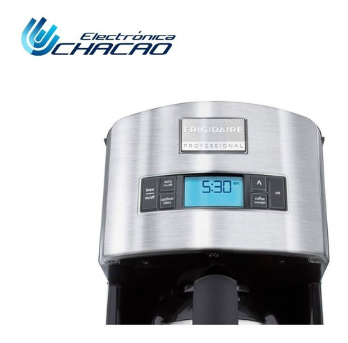 cafetera frigidaire electrolux programable acero