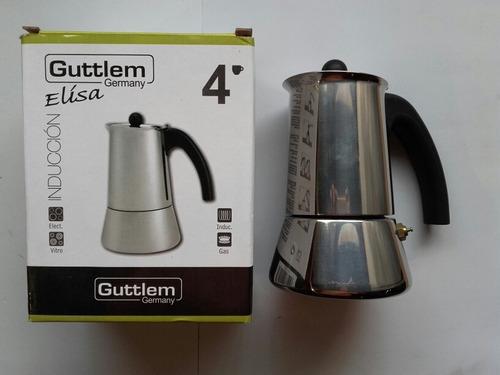 cafetera greca 4 tazas acero inox 18/10 guttlem 99-007