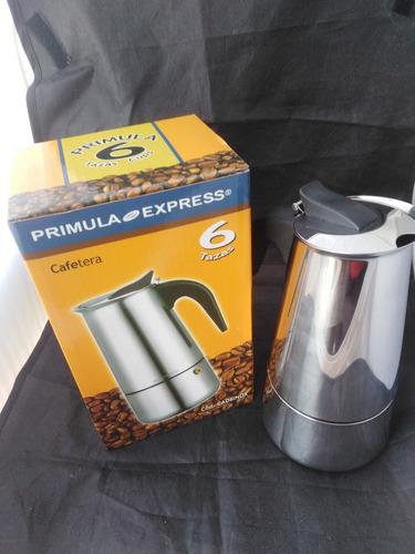 cafetera greca primula expres de acero 6 tazas primula