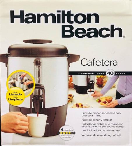cafetera hamilton beach para 40 tazas ideal para oficinas,