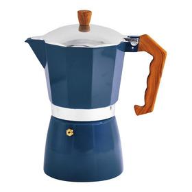 Cafetera Italiana Aluminio 300ml 6t Azul