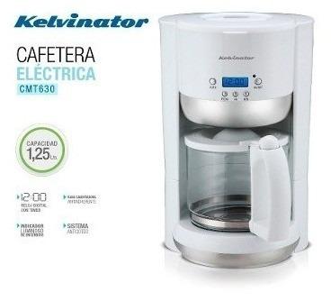 cafetera kelvinator cmt630 blanca display