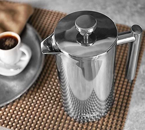 cafetera mueller french press, 20% mas pesado de acero inoxi